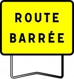 Panneau type KC1 Route barrée
