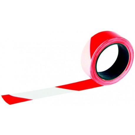 Rubalise rouge et blanc 50mm*100m