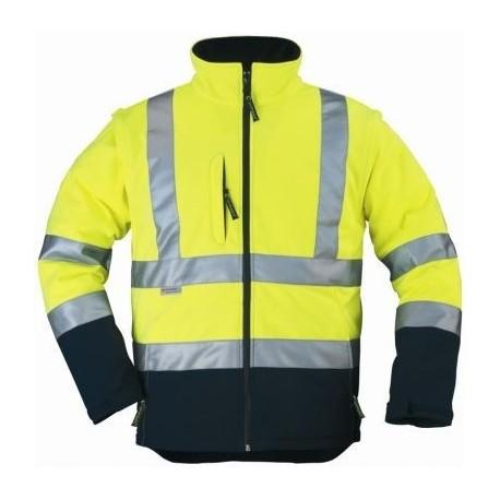 Veste SOFTSHELL Haute visibilité jaune